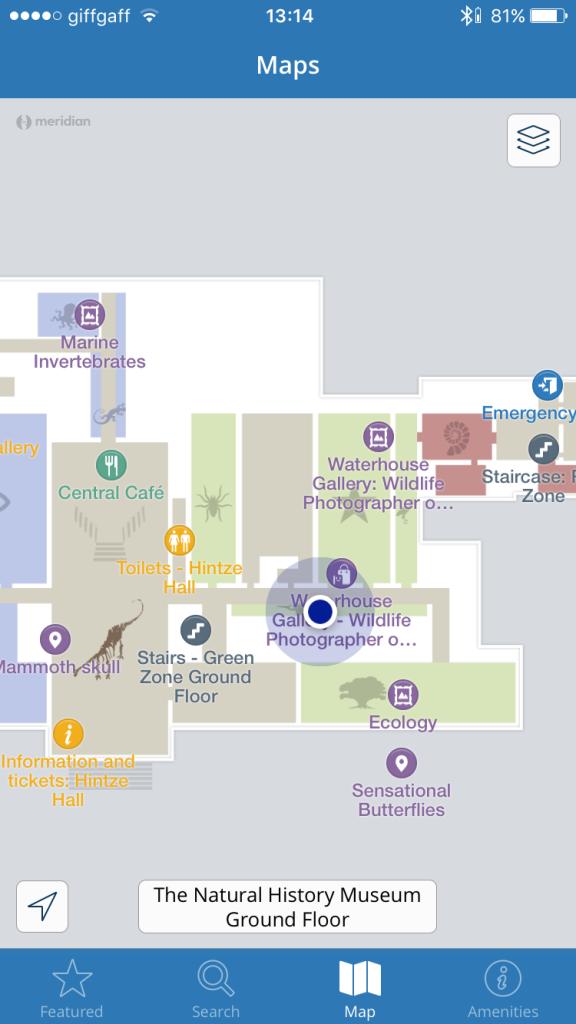 อันนี้แอปของพิพิธภัณฑ์ มันรู้ด้วยว่าเราอยู่ห้องไหน ยังกะเล่น Resident Evil