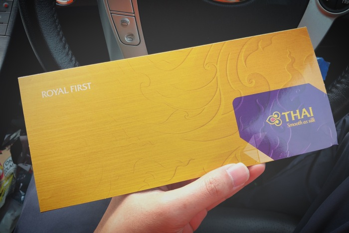 Redeeming THAI Royal First Tickets