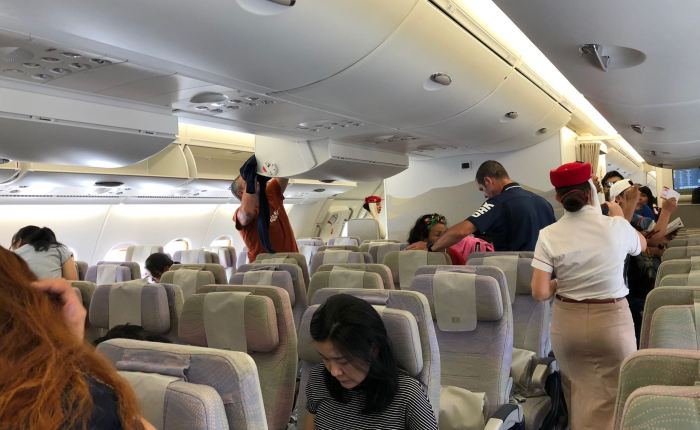 Review: Emirates A380 (2-class) Economy Class BKK-HKG